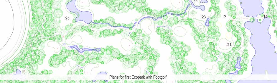 Plans for ecopark with footeegolf